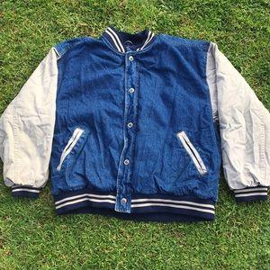 Vintage Denim Varsity Jacket
